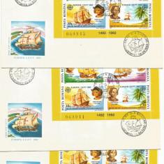 (No4) FDC ROMANIA -1992-L.P.1282- Europa CEPT '92 -FF rar serie consecutiva