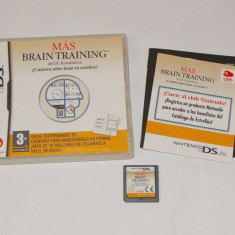 Joc consola Nintendo DS - More Brain Training - complet carcasa si manual - Jocuri Nintendo DS Altele, Actiune, Toate varstele, Single player