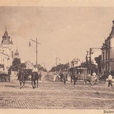 BUCURESTI, BULEVARDUL COLTEI CARUTA TRAMVAI - Carte Postala Muntenia 1904-1918, Necirculata, Printata