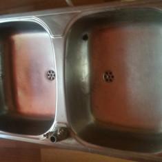 Chiuvetă inox dublă - accesoriu mobila