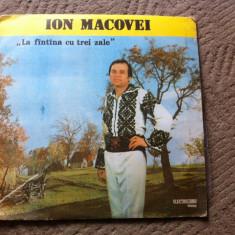 Ion Macovei la fantana cu trei zale album disc vinyl lp Muzica Populara electrecord folclor, VINIL