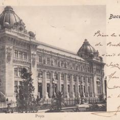 BUCURESTI PALATUL POSTELOR POSTA FARMACIA FARMACIE CLASICA CIRCULATA 1905 - Carte Postala Muntenia pana la 1904, Printata