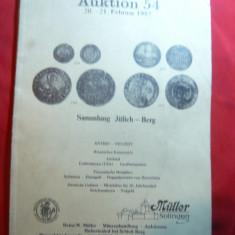 Catalog Numismatic de Licitatie nr.54 -1987 Muller-Salingen, 99 pag