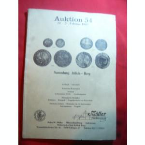 Catalog Numismatic de Licitatie nr.54 -1987 Muller-Salingen , 99 pag