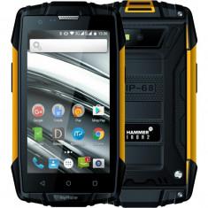 Smartphone myPhone Hammer Iron 2 Dual Sim 4 Inch Quad Core 8GB 3G Negru Portocaliu