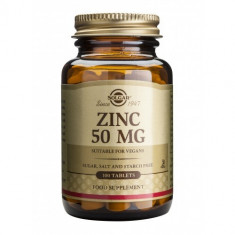 Zinc Gluconate 50mg 100 tablete, Solgar - Produs tratarea prostatei