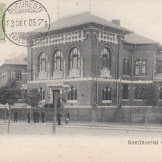 BUCURESTI ,  SEMINARIUL  CENTRAL , CLASICA , TCV , CIRCULATA 1905, Printata