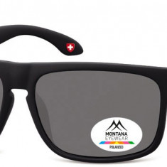 Ochelari de soare barbati Montana Eyewear MP37 black / smoke lenses MP37 - Ochelari de soare Polaroid