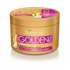 GOLDEN OILS Scrub de corp ultranutritiv cu ulei de Argan, Perilla, Abisinian 200ml, Bielenda