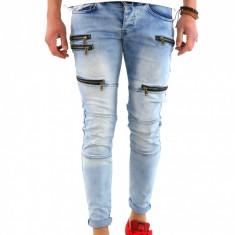 Blugi tip Zara fashion - blugi barbati blugi slimfit blugi conici 6063G7, Marime: 31, 32, 34, 36, Culoare: Din imagine