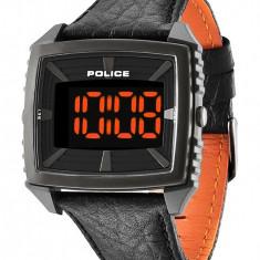 Ceas Police Countdown PL-13890JPBU-02 - Ceas barbatesc Police, Casual, Quartz, Piele, Electronic, Nou