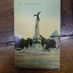 Ploiesti, Monumentul Vanatorilor, carte posta ilustrata - Harta Europei