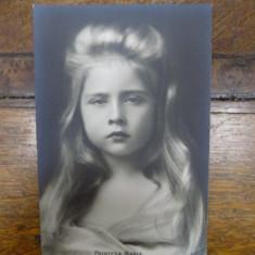 Printesa Maria, carte postala - Harta Europei