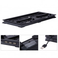 Stand consola SONY Playstation 4 PRO doua coolere usb hub