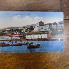 Balcic, Vedere generala a portului, 1915 - Harta Europei