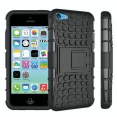 Husa Iphone 5, 5S, 5SE-Hybrid Forcell Neagra - Husa Tableta