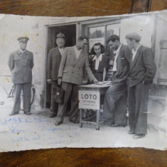Stand loto, fotografie originala 1950 - Harta Europei