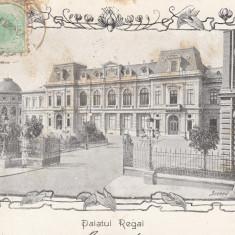 BUCURESTI, PALATUL REGAL, CLASICA, TCV, CIRCULATA 1904 - Carte Postala Muntenia pana la 1904, Printata