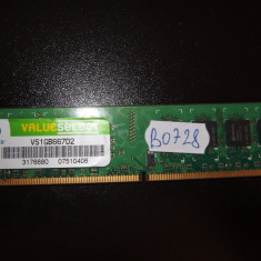 Memorie RAM 1GB DDR2 PC desktop Corsair 667MHZ ( 1 GB DDR 2 ) (BO728)