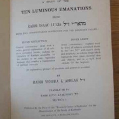 The Kabbalah A Study Of The Ten Luminous Emanations - Rabbi Isaac Luria, 394728 - Carti Budism