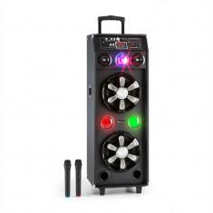 Auna DisGo BOX 2100, 100 W RMS, mobil DJ difuzor cu lumina disco, Bluetooth - Echipament karaoke