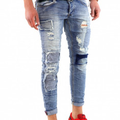 Blug fashion - blugi barbati - slimfit blugi conici - cod 6009 G1, Marime: 34, 38, Culoare: Din imagine
