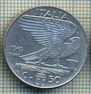 10390 MONEDA - ITALIA -50 CENTESIMI-anul 1940 XVIII-MAGNETIC-starea care se vede