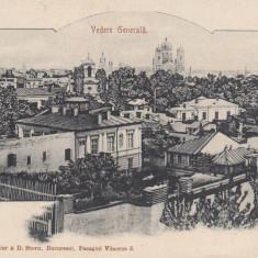 BUCURESTI, VEDERE GENERALA, CLASICA - Carte Postala Muntenia pana la 1904, Circulata, Printata