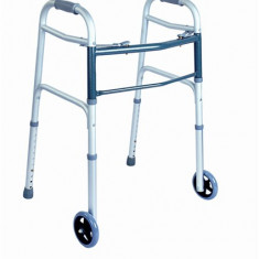 Cadru pliabil din aluminiu (2 butoane) - Articole ortopedice, Cadru mers