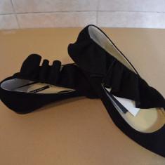 Pantofi Zara casual de vanzare - Pantof dama Zara, Culoare: Negru, Marime: 36, Cu talpa joasa