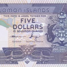 Bancnota Insulele Solomon 5 Dolari (2012) - P26 UNC ( serie C/8 )