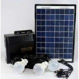 Kit Panou Solar GD-8012 Acumulator 12V7A Iesire 220V USB Radio LED iesire 220v