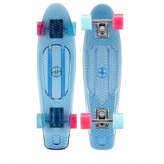 Penny board Nijdam transparent-albastru - Skateboard, Marime: 37