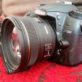 Nikon D7000 + Sigma 50mm f1.4 + geanta Nikon