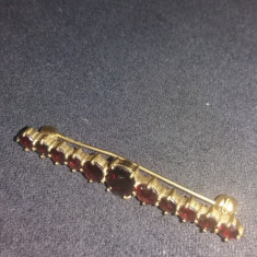 Brosa din aur de 8 carate cu granate - Brosa aur