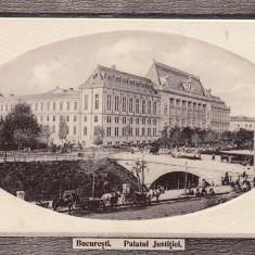 BUCURESTI, PALATUL JUSTITIEI - Carte Postala Muntenia 1904-1918, Necirculata, Fotografie