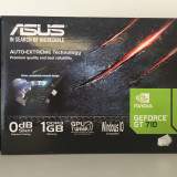 Placa video ASUS nVidia GeForce GT 710, 1GB DDR3, 64bit - Placa video PC Asus, PCI Express