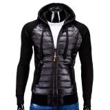 Hanorac barbati stil jacheta B578 Negru electric