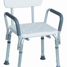 Scaun din aluminiu cu spatar si manere pentru dus - Articole ortopedice, Altele