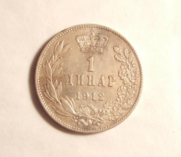 SERBIA 1 DINAR 1912 ARGINT
