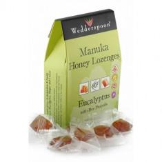 Bomboane (Dropsuri) cu Miere de Manuka, Eucalipt si Propolis 120g, Wedderspoon - Dulciuri