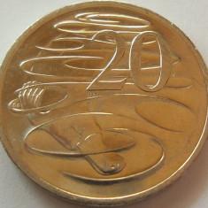 Moneda 20 Centi - AUSTRALIA, anul 2016 *cod 668 a.UNC, Australia si Oceania