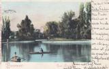 BUCURESTI , LACUL  CISMIGIU , CLASICA  , CIRCULATA  1904, Printata