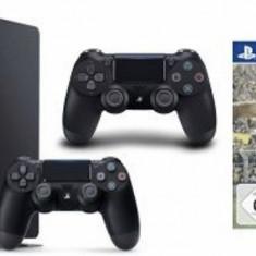 PlayStation 4 Sony SLIM, 1TB, negru, 2 Controllere +Joc Fifa 17