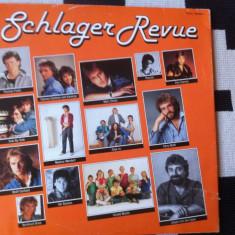 Schlager revue compilatie dublu disc vinyl 2 lp muzica pop italo disco germany, VINIL