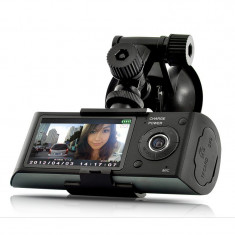 Camera Auto Dubla iUni Dash Cu GPS X3000 Full HD, 140 grade, display 2.7 inch