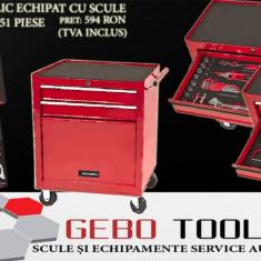 Dulap metalic pentru scule echipat cu 51 piese - Dulap scule Service