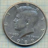 10425 MONEDA-STATELE UNITE ALE AMERICII-1/2DOLLAR-anul1989D-STAREA CARE SE VEDE