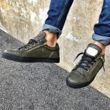 Pantofi casual Zipper- Electric Green - Adidasi barbati, Marime: 40, 41, 42, 43, 44, 45, Culoare: Din imagine