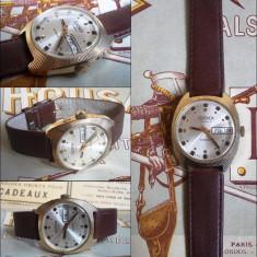 Ceas Slava SEKONDA automatic cal. 2427, 25 jewels, placat cu aur, 1980 - Ceas barbatesc Sekonda, Casual, Mecanic-Manual, 1970 - 1999